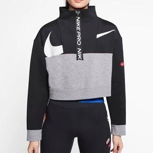 NWT Nike Get Fit Cropped Fleece Half Zip